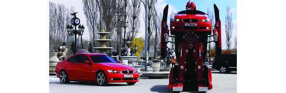 bmw et letvision pr sente leur voiture qui se transforme en robot. Black Bedroom Furniture Sets. Home Design Ideas
