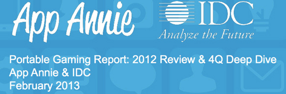 Etude App Annie + Idc : Portable Gaming Report: 2012 Review & 4Q Deep Dive